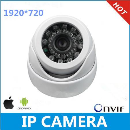 ONVIF 1280 x 720p Hd 1.0mp hemisphere IP camera, infrared night vision of IP CAM, P2P
