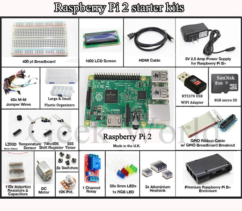 Интегральная микросхема Raspberry Pi 2 2015 Pi 2 b /1602 LCD /wifi интегральная микросхема oem 3 2 pi b 512m pi b 1 raspberry pi 2 set 3