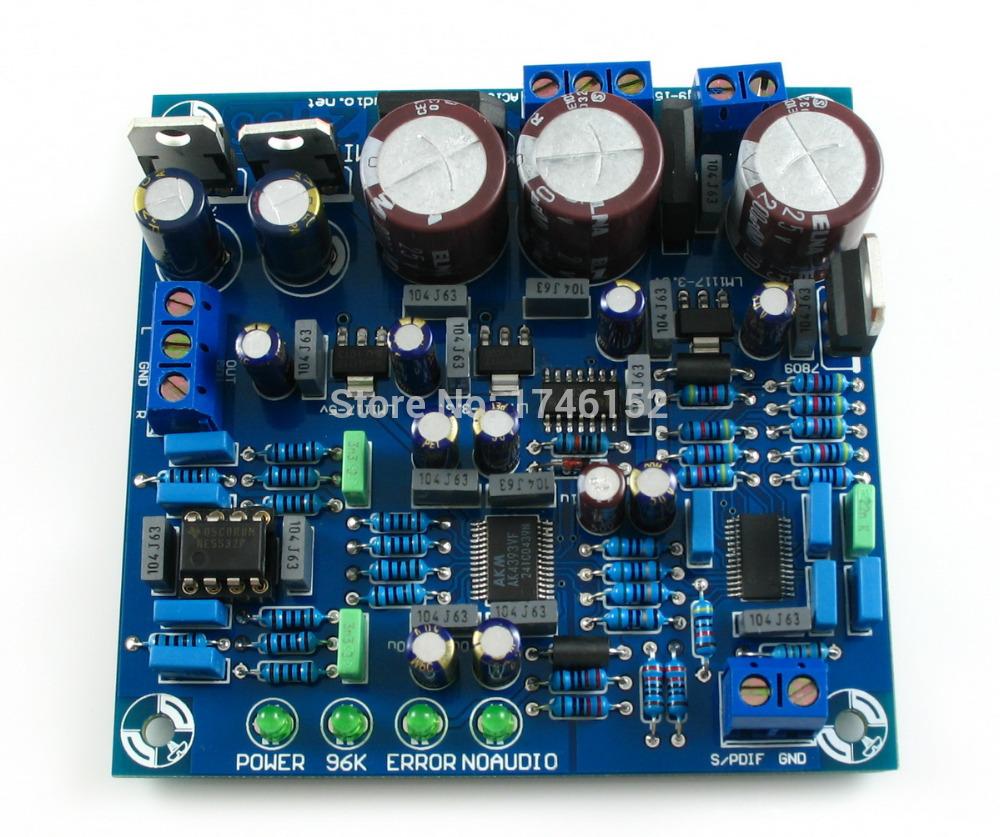 24 BIT 192K HZ DAC CS8416+AK4393+5532 SPDIF To audio output DAC kit by LJM(China (Mainland))