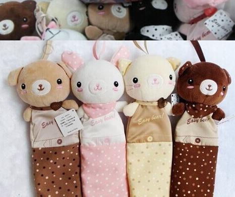Kawaii Dots Animals Plush Pen Pencil BAG Pouch Case Packs ; Children Storage CASE & Beauty Pouch Bag Case Coin Purse Wallet BAG(China (Mainland))