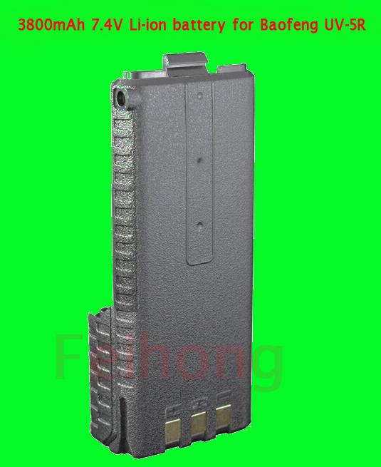 Baofeng uv-5r battery 3800mAh 7.4v Li-ion BL-5L for ham radio transceiver UV-5R BF-F8 walkie talkie(China (Mainland))
