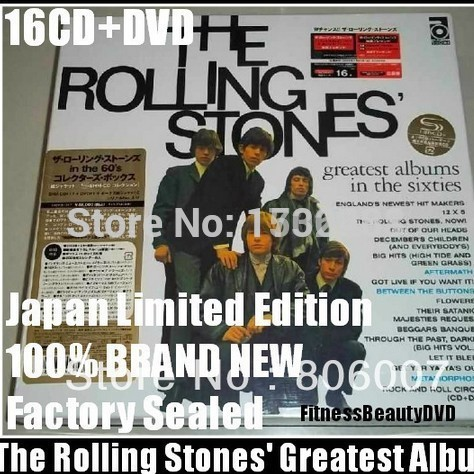 A limited edition of The Rolling Stones 16 disk CD boxset Rolling Stones Free shipping A030(China (Mainland))