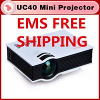 UC40 projector Mini Pico portable Projector AV VGA A/V USB & SD with VGA HDMI Projector projetor beamer