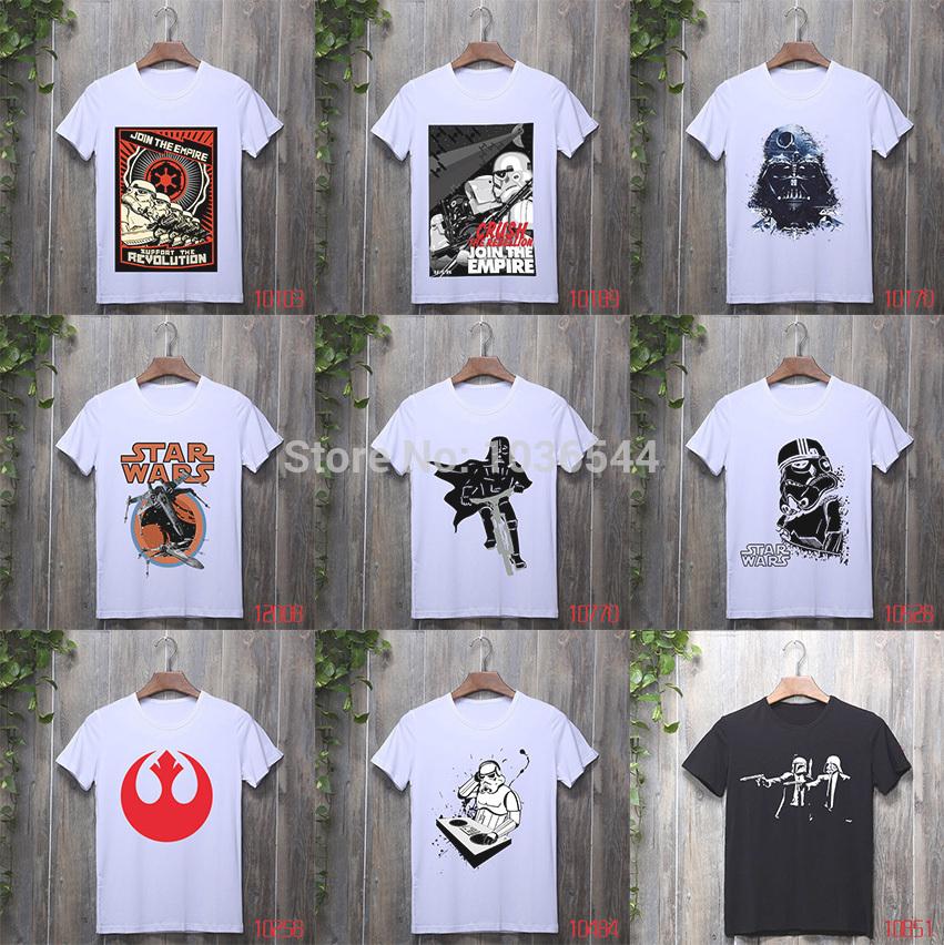 New Cheap Men T Shirts Star Wars Darth Vader Top Tee Shirts Cotton Short Sleeve Tshirts Mens Clothing Hip Hop Camisa Freepost(China (Mainland))