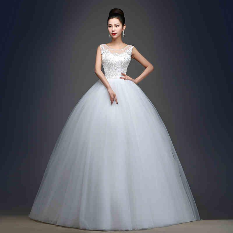 Top Luxury Wedding Dress : New lace princess bride wedding dress luxury ball gown dresses