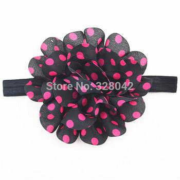 Розовый, белый, красный. желтый, серый шифон цветок повязка на голову для девочки ...