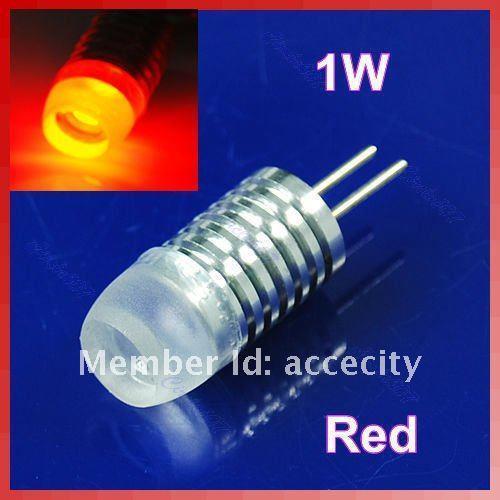 C18 Bright G4 DC 12V 1W Base LED Red Landscape Light Bulb Lamp New(China (Mainland))