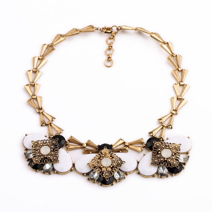 New Women Big Noble Elegant Jewelry Contemporary Individual Leisure Brisk Flower Necklace(China (Mainland))