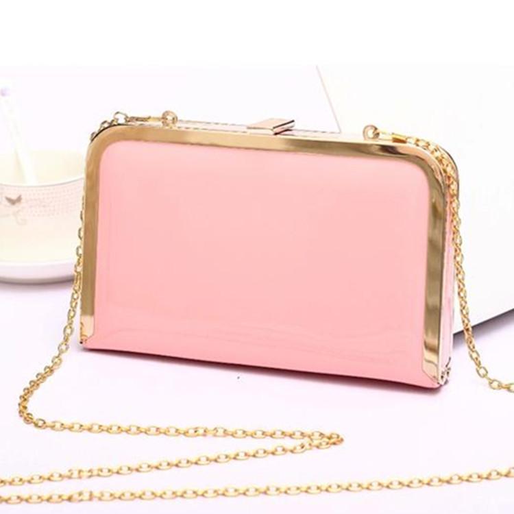 2015 PU leather handbags Fashion women's mini-chain Shoulder Messenger Bag candy color Purse Clutch Wallet KF110(China (Mainland))