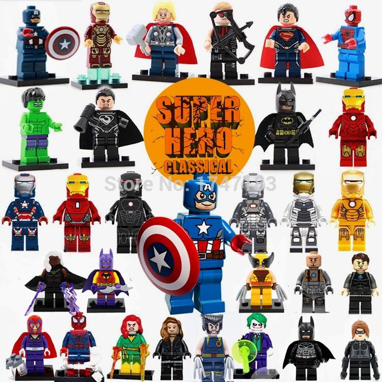 Lego Super Heroes The Avengers 30pcs/lot Iron Man Hulk Batman Thor Building Blocks Sets Minifigure Bricks Toys Free Shipping(China (Mainland))
