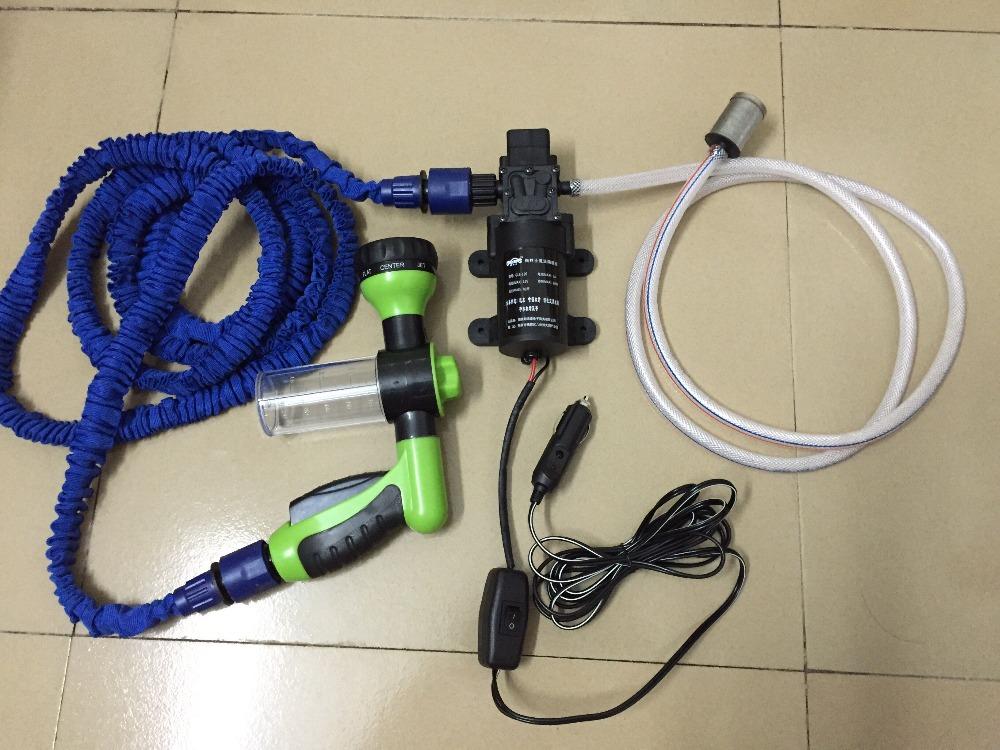 12v car wash device car washing machine cleaning pump high pressure water pump dual silent(China (Mainland))