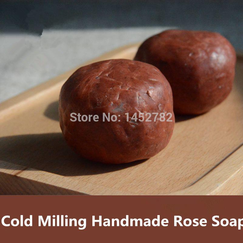 1 пк роза мыло лошадь масло охлаждение системы холодная фрезерование ручной работы мыло лучший подарок для лицо тело стиральная