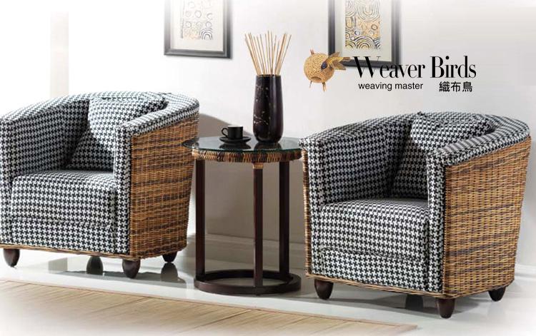 Weaver - rattan sofa rattan furniture rattan sofa chair negotiations - Jean combination coffee table lounge chair(China (Mainland))