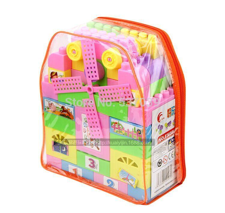 37 pcs amigos meninas blocos brinquedos de construção de brinquedo crianças mochila brinquedos blocos presentes(China (Mainland))