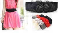 Classic rose flower waistband ,women waist belt ,can choose colours.EMS/DHL free shipping