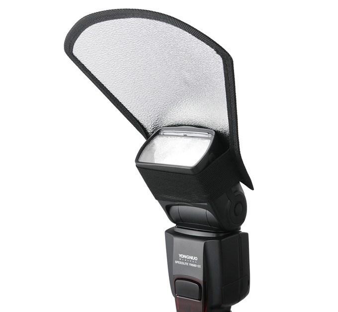 New Speedlite Flash Diffuser Softbox Silver / White Reflector Photography Studio Top Flash Light Reflective Shovel Free Shipping(China (Mainland))