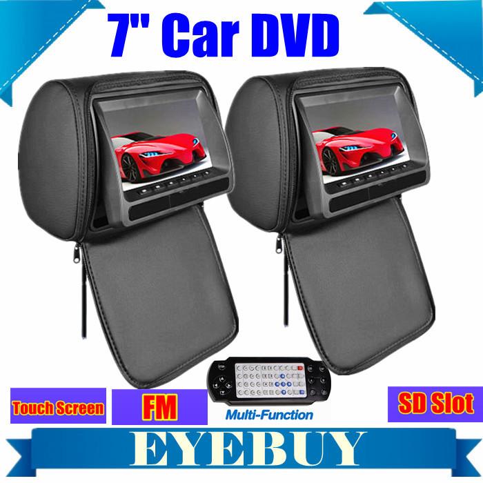 7inch headrest Car Monitor DVD Auto automotivo Player Touch screen DVD players FM SD IR 32Bit