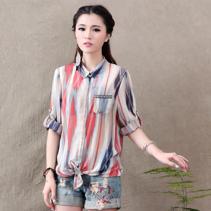 Женские блузки и Рубашки 2015 /camisa blusa женские блузки и рубашки blusa 2015 xxl wcx700