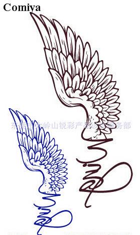 Ferramentas de estilo pássaro ocidental tijdelijke pintura tribal 2015 asa pássaro de tinta quente águia arm arte autocolante tatuagens temporárias Comiya(China (Mainland))