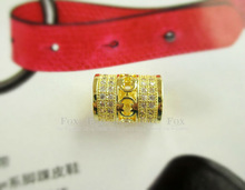 Hot sell Free shipping Gold Jewelry Austrian AAA Zircon Crystal Loose Beads fit European pandora Bracelets