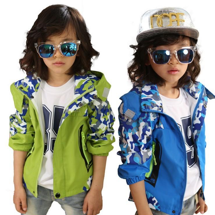 2015 New Spring children outerwear boys girls clothing baby kids coat jackets boy outwear Outdoor sportswear Orange-Blue-Green(China (Mainland))