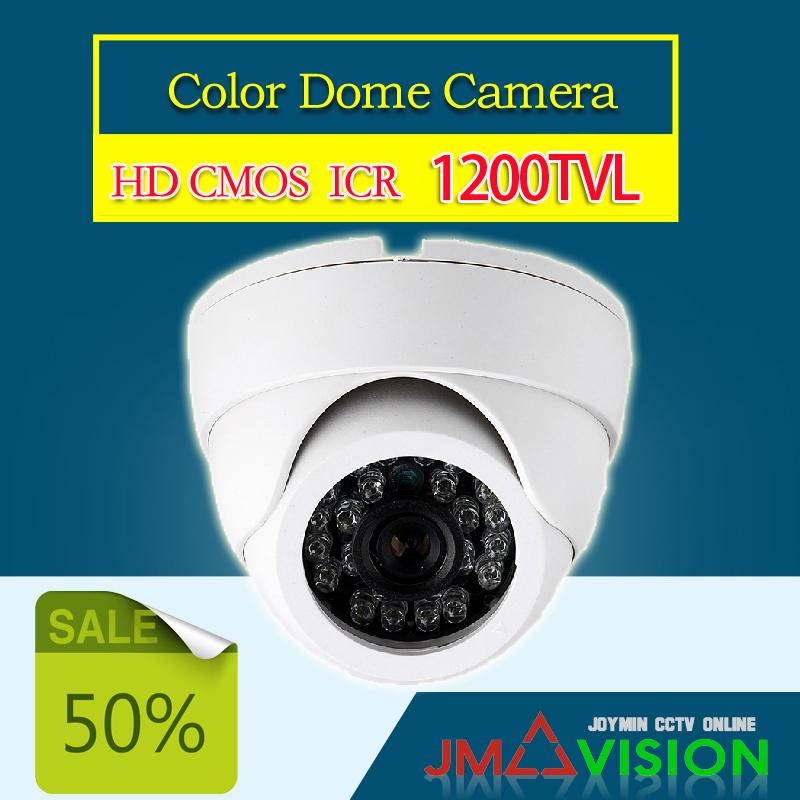 Security Camera HD 1200TVL CMOS 24 IR LED Color IR Night Vision Surveillance Dome CCTV Camera Home Indoor