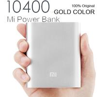 GOLD color 100% Original XIAOMI Power bank 10400 mAh portable powerbank Charger for xiaomi iPhone Samsung HTC free shipping