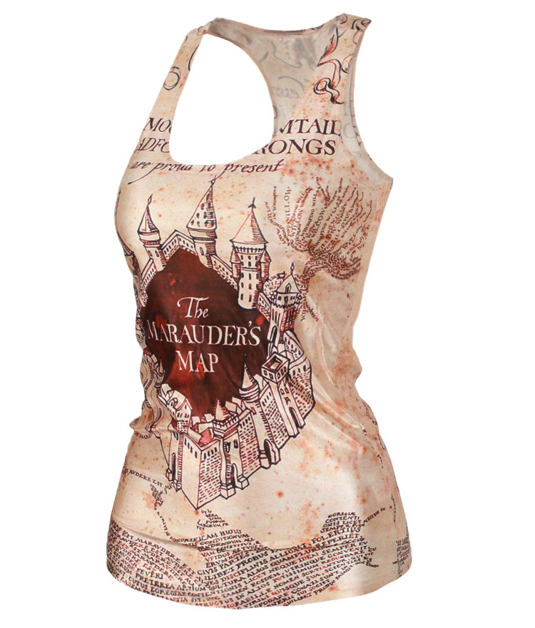 Drop Shipping New Ladies women crop tops Camisole Sexy top Printed women's clothing Harry potter print tank top Women Clothing(China (Mainland))