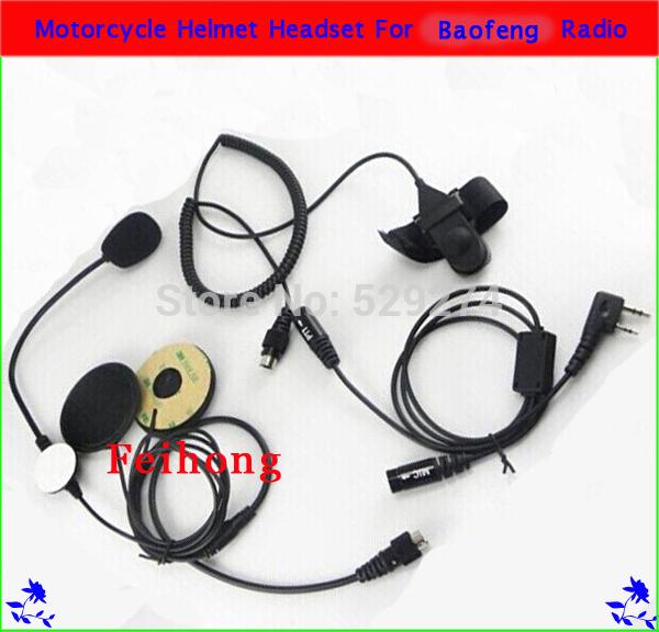 Motorcycle Helmet Headset Earpiece for BAOFENG UV-5R TYT F8 two way radio Walkie Talkie(China (Mainland))