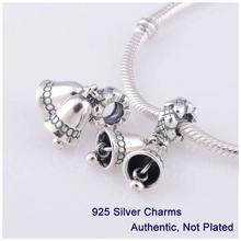Fits Pandora Bracelet DIY Making Authentic 100% 925 Sterling Silver Original Beads Bell Charm Women Jewelry 2014 L317