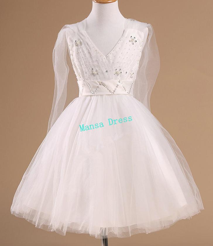 Mansa The new fashion children dress bridesmaid dress v-neck dress child / 5879(China (Mainland))