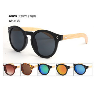 Retail 2015 new fashion handmade mirror sunglasses UV400 wooden sunglasses men women bamboo temple sunglasses high
