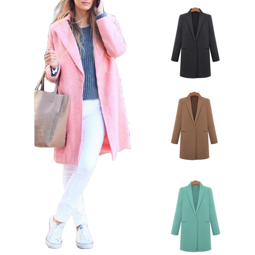 Женщин тёплый зима встроенное пальто леди нагрудные приталенный длинная куртка Outerwears SMV