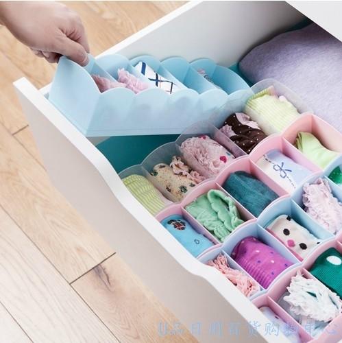 166g pants socks five grid classification storage finishing box pen notebooks table storage box free shipping(China (Mainland))