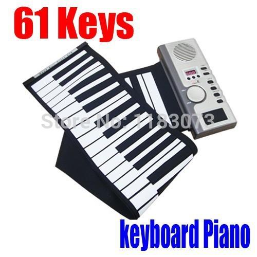 Big Discount!!! Brand New Portable Digital Electronic organ 61 Keys MIDI Digital Roll-Up Soft keyboard piano Free Shipping(China (Mainland))