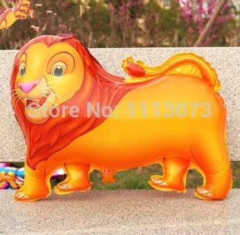 10 pcs animal dos desenhos animados leão balões folha de aniversário fontes do partido para crianças decoração balões palloncini atacado grátis frete(China (Mainland))