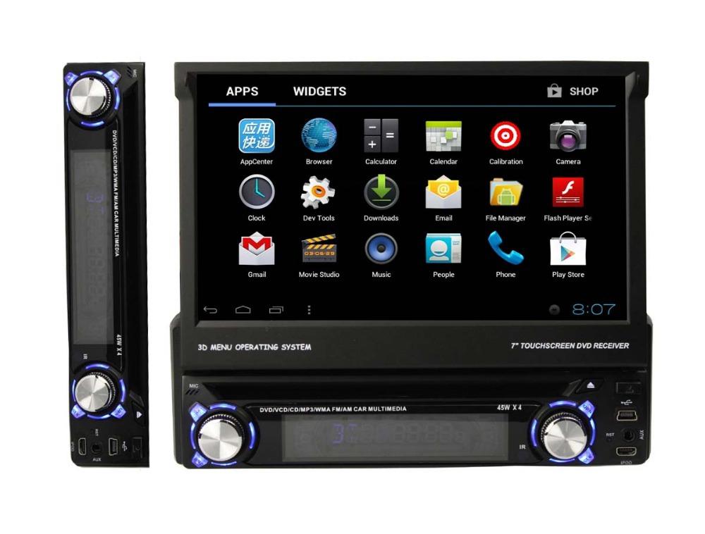 free shipping car GPS navigation android 1 din DVD GPS player(China (Mainland))