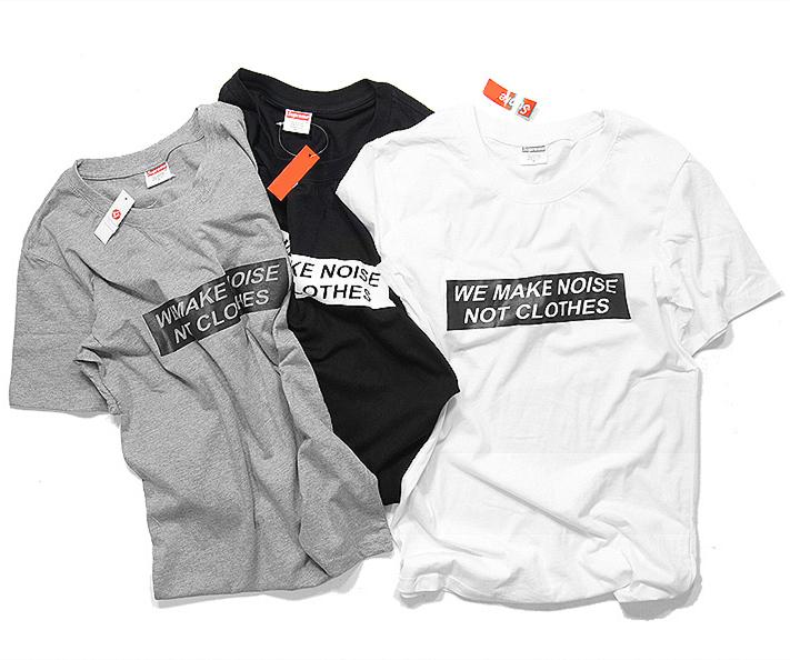 Suprem T-shirts 2015 New Letter Print We Make Noise T-Shirts Box Logo Funny Hip Hop T-Shirts Men Women Fashion T-Shirts Tees(China (Mainland))