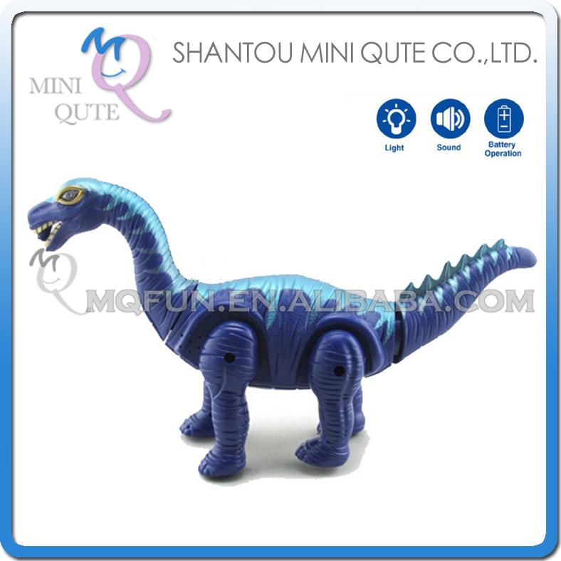Mini Qute 41 cm plastic Godzilla Jurassic Park sound flash walk electronic dragon projection Brachiosaurus Dinosaur toy NO.8998(China (Mainland))