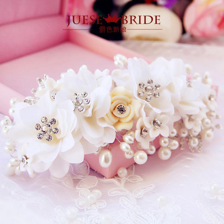 Bridal hairpin hair accessory rhinestone pearl marriage accessories wedding dress