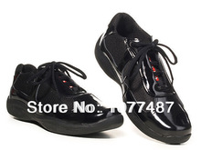 Hot Selling Italian Brand Mens Casual Shoes Patent Leather With Mesh American Cup Sneaker Shoes For Men