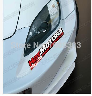 Car Styling HellaFlush Hotmotors TURBO Performance Car Sticker Decals Reflective Waterproof Auto Engine Hood sticker(China (Mainland))