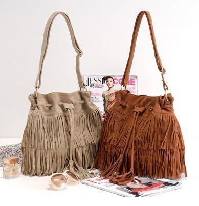 suede bag fringed Tassel 2015 fashion denim brand Faux Fringe Shoulder bolsas de franja Womens Handbags Messenger Bag femininas(China (Mainland))