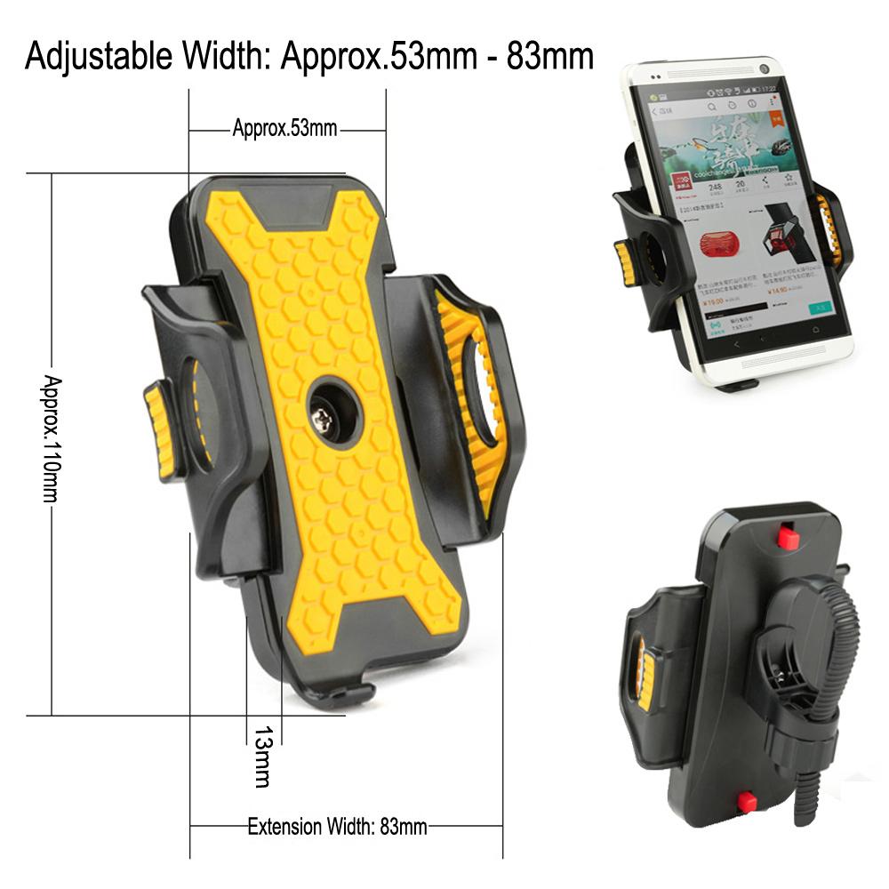 Universal Bike Phone Holder 53mm-83mm Adjustable Width Bicycle Bracket Antiskid Bike Phone Mount for iPhone Samsung GPS MP4 MP5(China (Mainland))