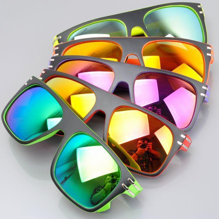 Male Ms sunglasses Dark glasses sunglasses color glasses color colorful cool rivet version