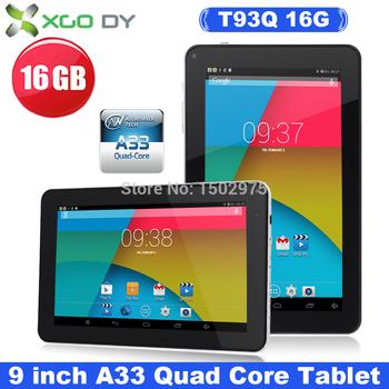 Xgody 9 дюймов андроид 4.4 планшет шт. Allwinner а33 четырехъядерных процессоров T93Q 16 ГБ двойной Cam wi-fi Bluetooth великобритания на складе