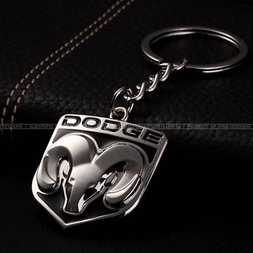 Гаджет  2Pcs/Lot Car Styling Keychain Key Ring for RAM 1500 Journey Caliber Caravan Challenger Charger Nitro Car Emblems Accessories None Автомобили и Мотоциклы