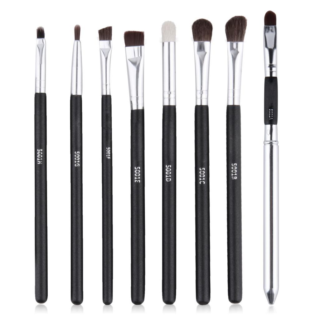 8 pcs Black Handle Professional Eye Shadow Makeup Brushes Set Top Quality Cosmetic Eyeshadow Brush Kits