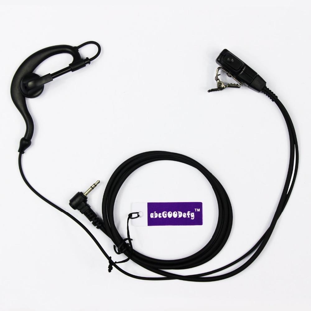 1 pin G Shape Earpiece Headset for Motorola Talkabout COBRA XTL446 XTR446 PMR446 TKLR Two Way Radio Walkie Talkie(China (Mainland))