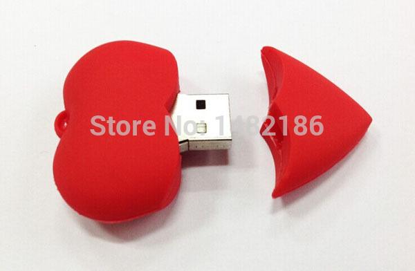 New red heart gift USB 2.0 Flash pen Drive disk Memory Sticks 8GB16GB 32GB 64GB Pendrive DU0141 Free shipping(China (Mainland))